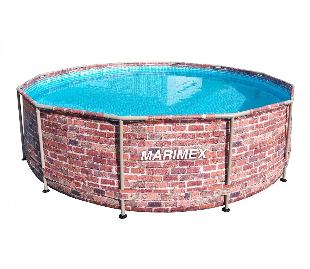 Marimex   Bazén Florida 3,66x0,99 m bez filtrace - motiv CIHLA   10340243