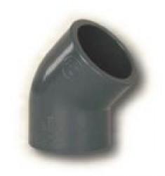 PVC koleno 45° 50mm